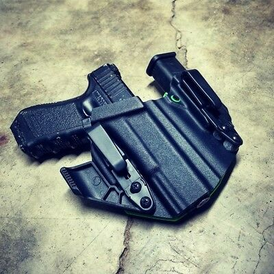 Fits Glock 19 23 32 Appendix Carry Kydex Holster w Raven Concealment RCS Claw