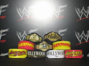 30 x Custom WWF WWE NXT Title Belts For Hasbro Mattel Retro Wrestling Figures