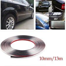 Car Chrome Decor Strip Silver Moulding Trim Window Exterior Accessories 10mmX13m