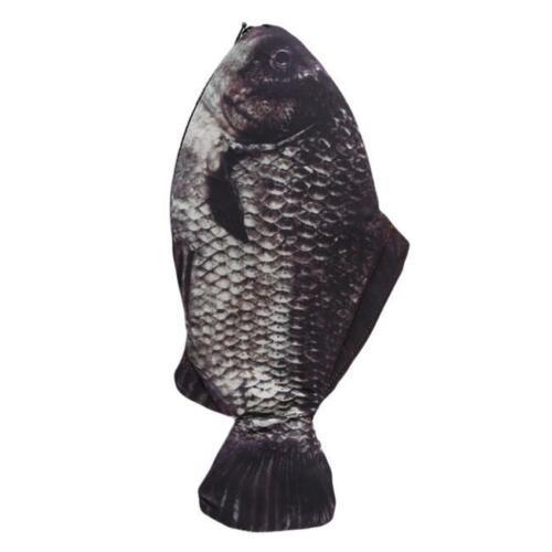 Stylish Silver Carp Fish Zipper Change Purse Pencil Case Make-Up Pouch Bag G