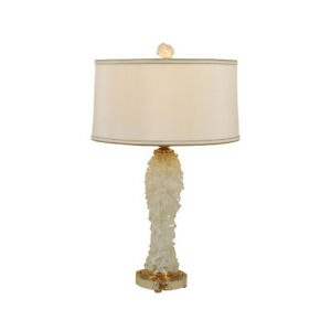 Maitland smith 1700 385 rock crystal table lamp amber accents silk image is loading maitland smith 1700 385 rock crystal table lamp mozeypictures Images