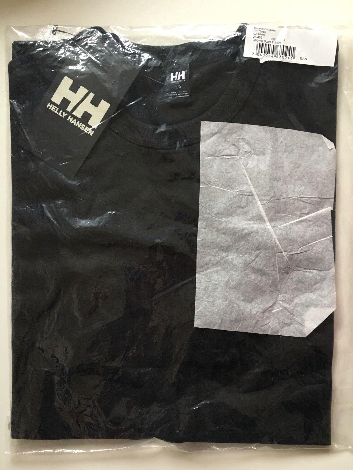 szybka dostawa przemyślenia na temat świetna jakość Helly Hansen Mens Original Sport T-shirt Black