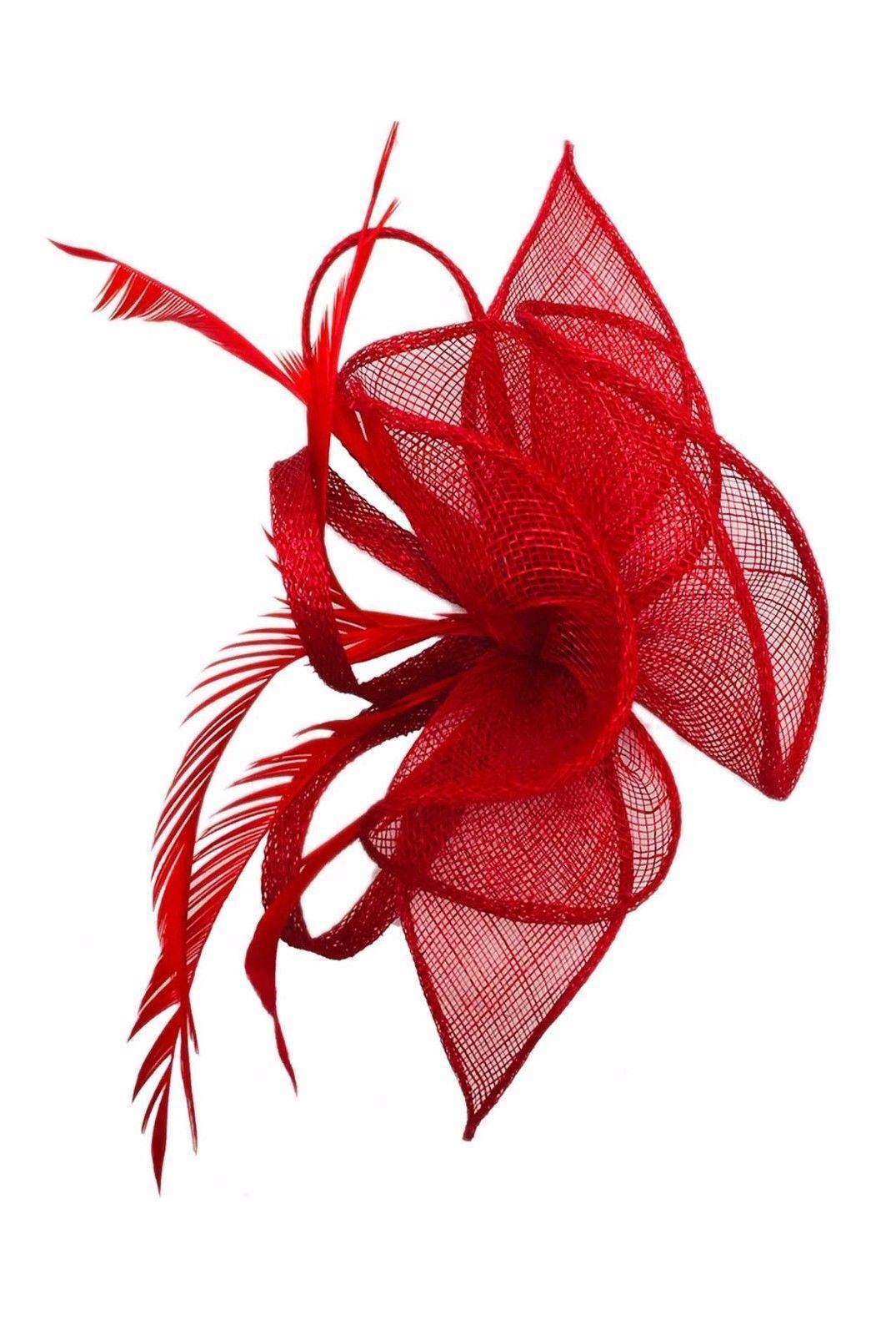 Ladies giorno razza ROYAL Piuma Perle Fascia Alice Banda Fascinator Con