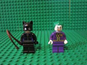 Lot-2-Lego-DC-Super-Heroes-Batman-Villain-minifigures-minifigs-CATWOMAN-JOKER