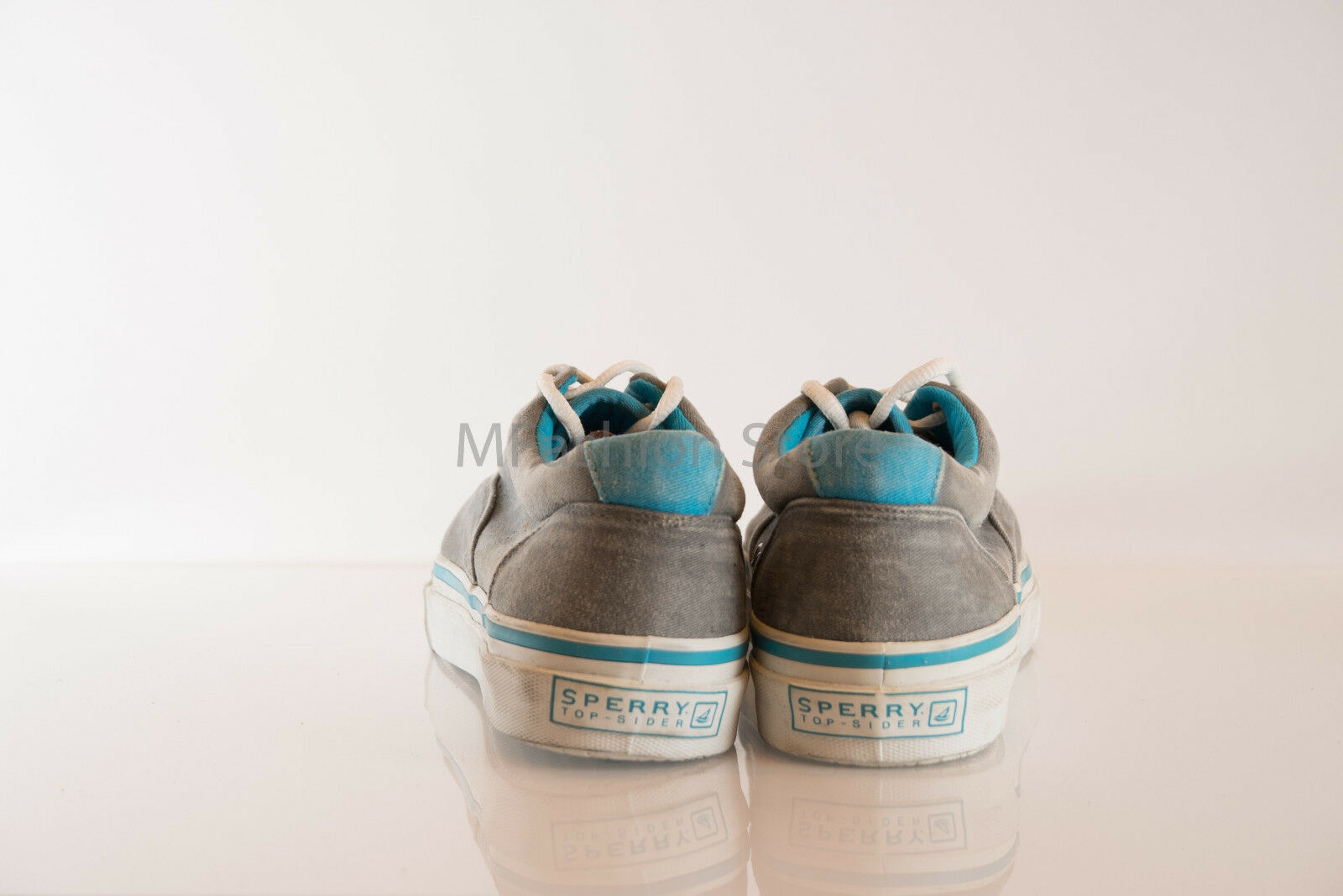 Sperry Gray Cotton Upper Lace Uomo Up L12-CH241 Uomo Lace Shoe Size US 8M Pre Owned Great 607536
