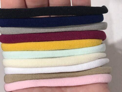 10 Pieces Thin Wholesale Nylon Elastic Stretch Headbands 26cm 6mm wide GREY