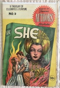 "Golden Age Comics ""SHE"" Stories by Famous Authors Illustrated #3  VG+"