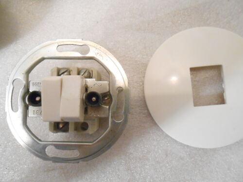 Bakelit doppel Kippschalter Serien Schalter  weiß Unterputz Steckdose alt antik
