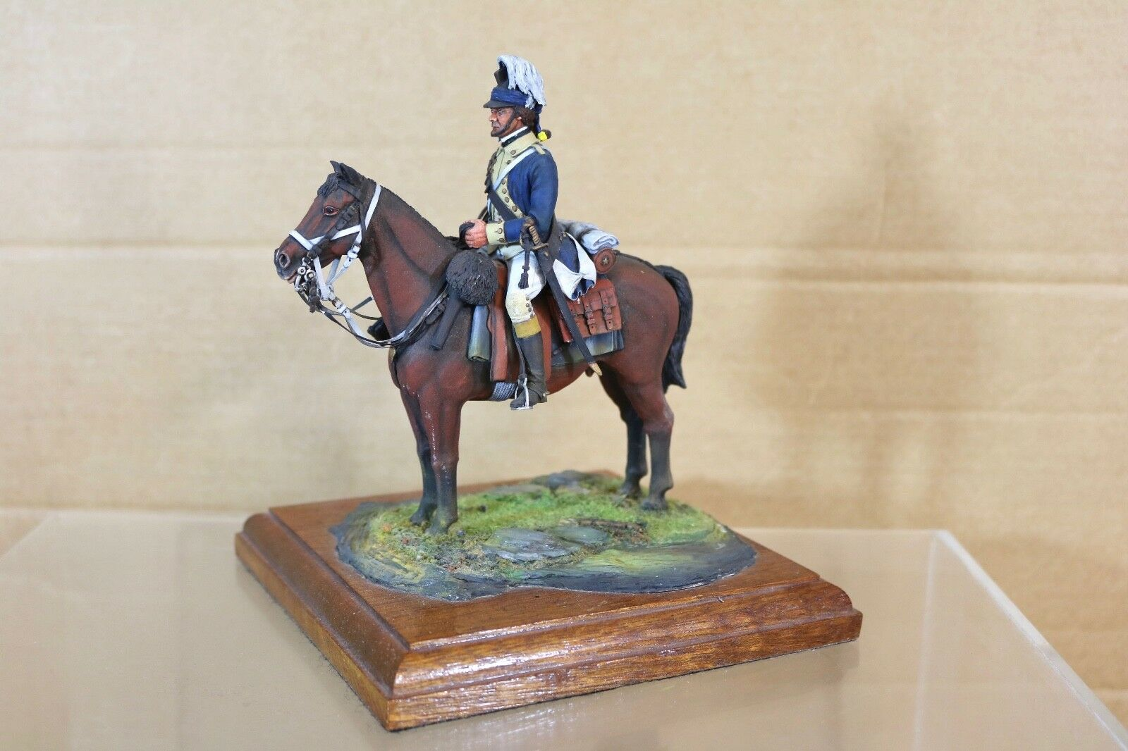STADDEN SERIES 77 90mm NAPOLEONIC FRENCH MOUNTED TROOPER MUSEUM QUALITY nq