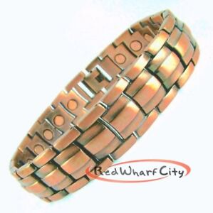 Image Is Loading New Mens Copper Magnetic Therapy Healing Bracelet Arthritis