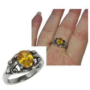 Bague-vintage-en-argent-massif-925-zirconium-jaune-T-56-bijou