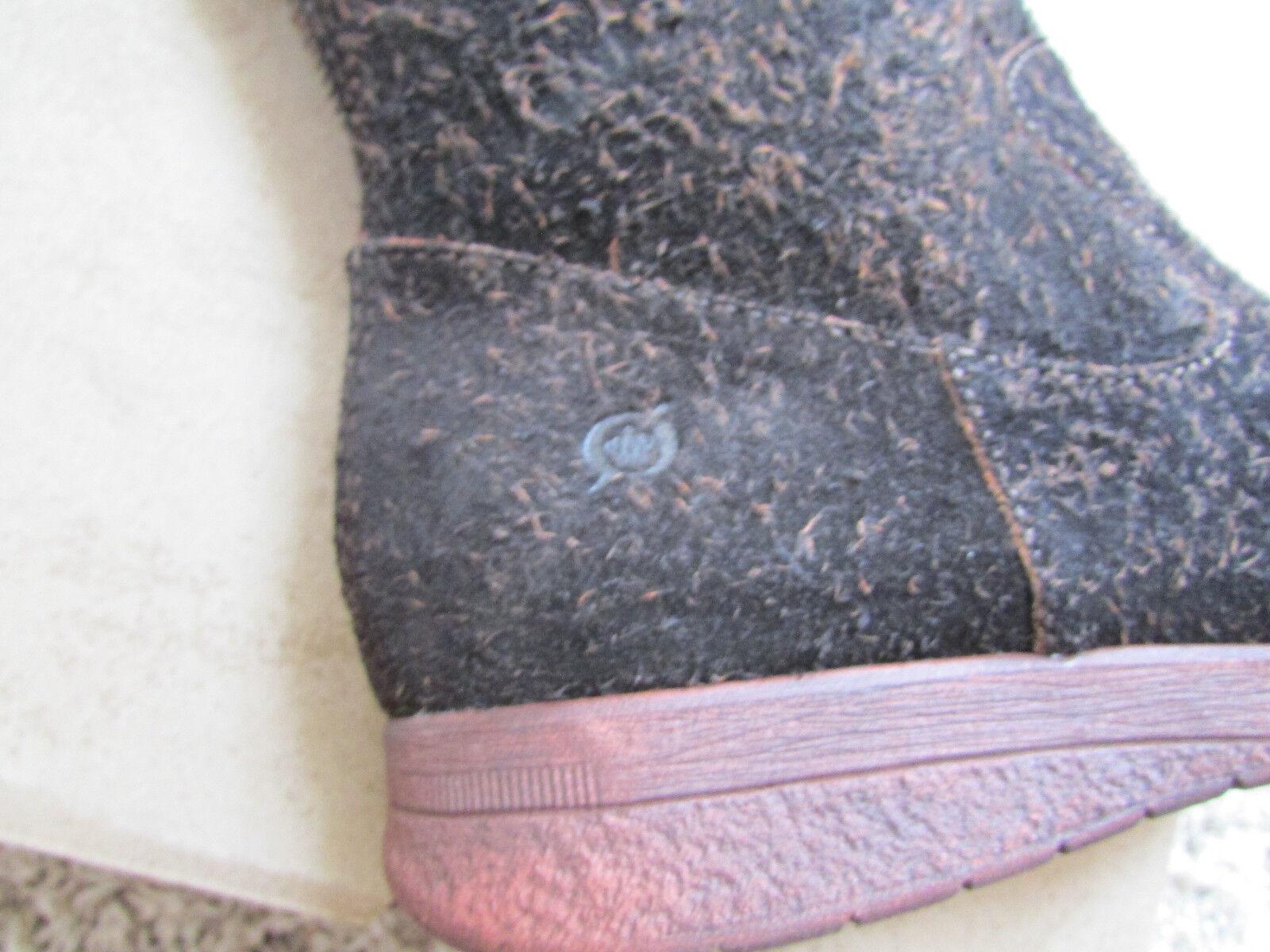 Nuevas Nuevas Nuevas botas de ante marrón nato Minola para mujer 8 Cremallera Trasera D80762 1f4309