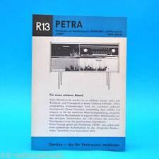 Petra Musiktruhe Rema Coro DDR 1966 | Prospekt Werbung DEWAG Werbeblatt R13