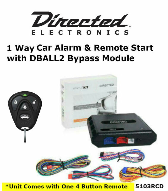 Directed 5103r Security & Remote Start W/ Dball2 Byp Interface Module on