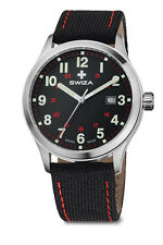 SWIZA MEN'S kretos Men's Watch, svizzero al quarzo, 42mm custodia, cinghia di nylon