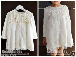 VINTAGE-FLOWER-baby-girl-dress-Wedding-Christening-Birthday-Party-formellement-Wear