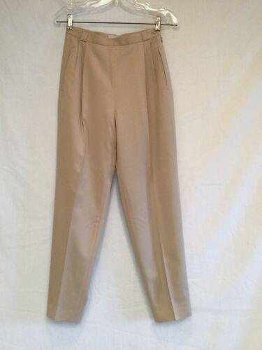 Ladies Joan & David Wool Dress Pants-Tan-Size 6