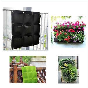 9-Pocket-Planting-Bag-Hanging-Wall-Vertical-Planter-Hanging-Flower-Herb-Garden