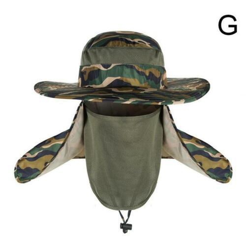 Outdoor Sun Protection Fishing Cap Neck Face Flap Hat Wide Brim Cover Unisex