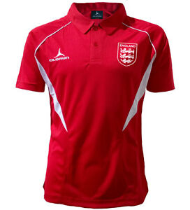Olorun England Football Supporters Polo Shirt - Red/White - S-3XL