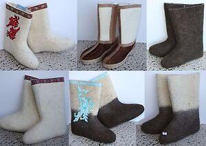 VALENKI-Wool-Felt-Russian-Winter-Boots-Shoes-US-Women-Sizes
