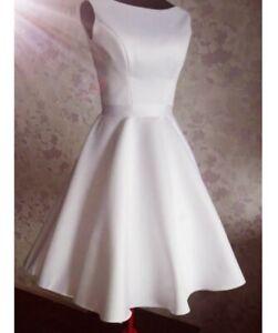 brautkleid hochzeitskleid kurz schlicht standesamt strand  ebay