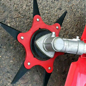 6T-Stahlklingen-Rasentrimmer-Kopf-Freischneider-Garten-Rasen-Maschine-Power-NEU