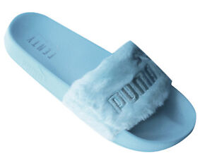Puma Fenty Rihanna Fur Slip On Sliders Womens Flip Flops Slider ... 7102f6a7c3