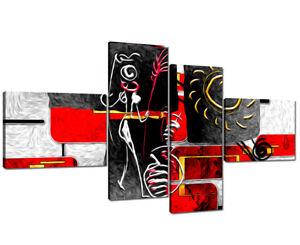 Dettagli su Quadro Moderno su Tela Quadri Moderni XXL cm 200x100 Astratti  Casa Arte Arredo
