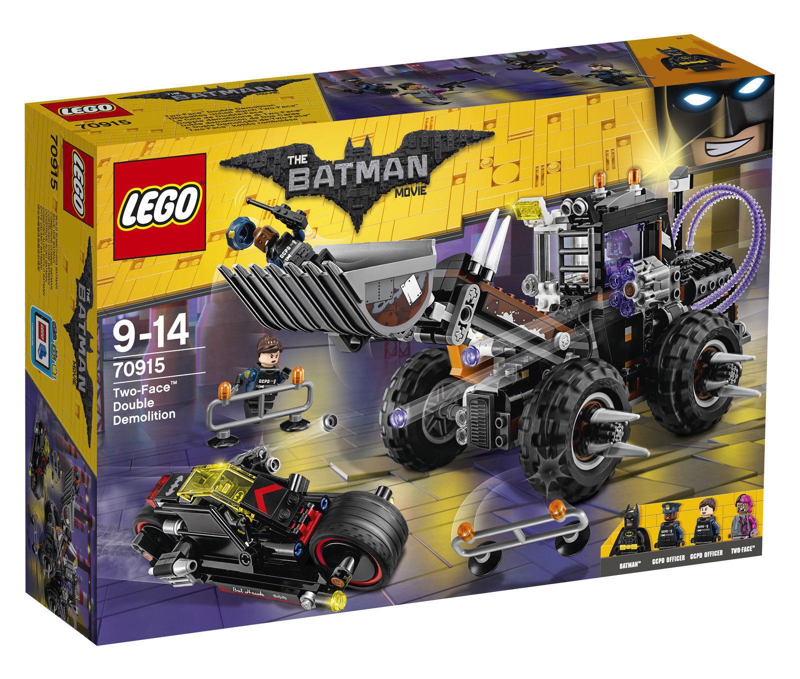 The LEGO Batman Movie Two-Face Double Demolition 70915 New Sealed RetiROT Rare