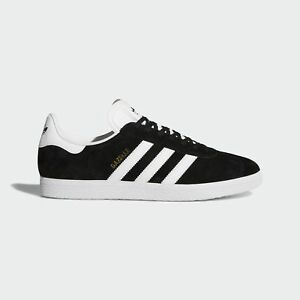 Adidas-SCARPE-GAZELLE-Nere-Blu-SS19-uomo-sneakers-Tomaia-in-pelle-di-cinghiale