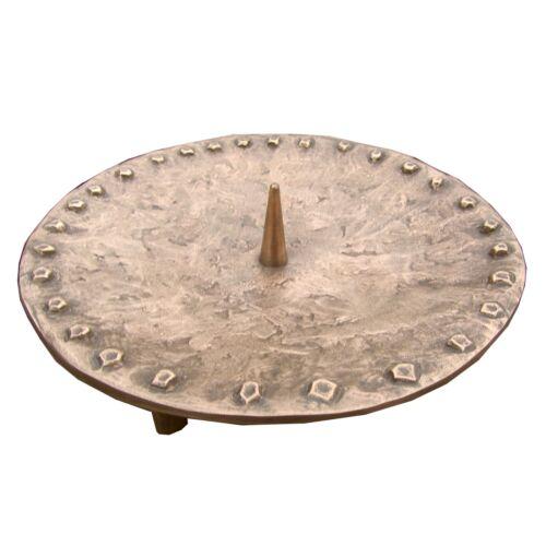 Bronze Leuchter Ornament 17 cm Durchmesser Bronze candle holder
