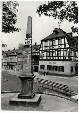 Ak Zwönitz, Kreis Aue, Post Meilensäule, Hotel, gelaufen um 1980 (17i)