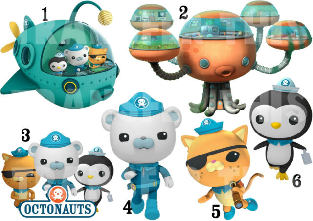 OCTONAUTS STICKER WALL DECAL OR IRON ON TRANSFER T-SHIRT FABRICS BARNACLES LOT O
