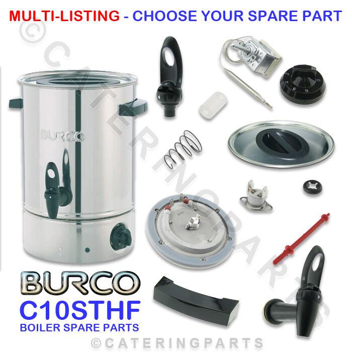 Burco C10STHF Repuestos Ver Todo para C10 Sthf 10 Litros Calentador de Agua
