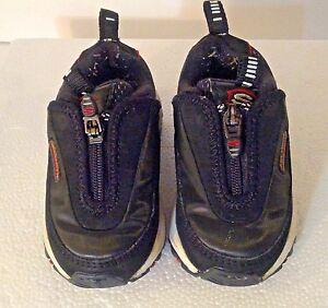 Infant-Size-4-Skechers-Sport-Trainer-Shoes-Black-Unisex-Slip-On-Baby