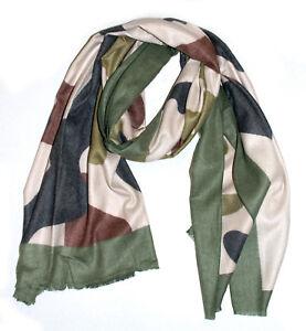 letzte Auswahl Modern und elegant in der Mode neuer & gebrauchter designer Details zu Camouflage Schal mit Wolle Camo Halstuch Tarnmuster Militär Tarn  Herbst Soldat