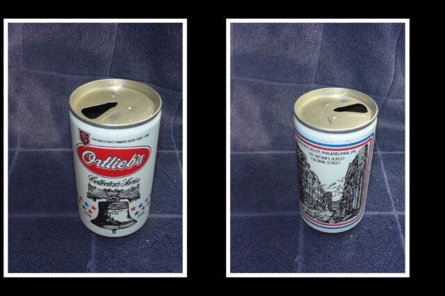 OLD COLLECTABLE USA BEER CAN, ORTLIEBS BREWERY, OLDEST COLONIAL STREET 1