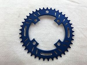 Snap BMX Products S4 104mm 4 bolt Chainring - 41t Blue