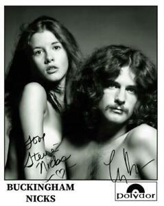 REPRINT - STEVIE NICKS - LINDSEY BUCKINGHAM Signed 8x10 Photo Poster Man Cave