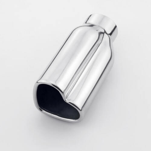 """Straight Cut Heart Look Outlet 6/"""" Long Polished Stainless Steel Exhaust Tip"""