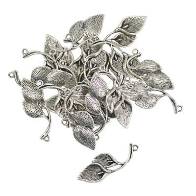 50pcs 3D Tibetan Silver Retro Lily Flower Charms Pendants NecklaceDIY Making