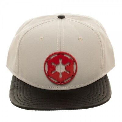 OFFICIAL STAR WARS - GALACTIC EMPIRE RED METAL SYMBOL GREY SNAPBACK CAP (NEW)