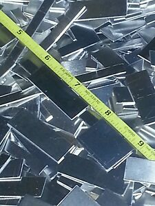 """metal plate 430 welding tig mig stainless steel sheet 2 pieces 22 gage 6/"""" x 4/""""+"""