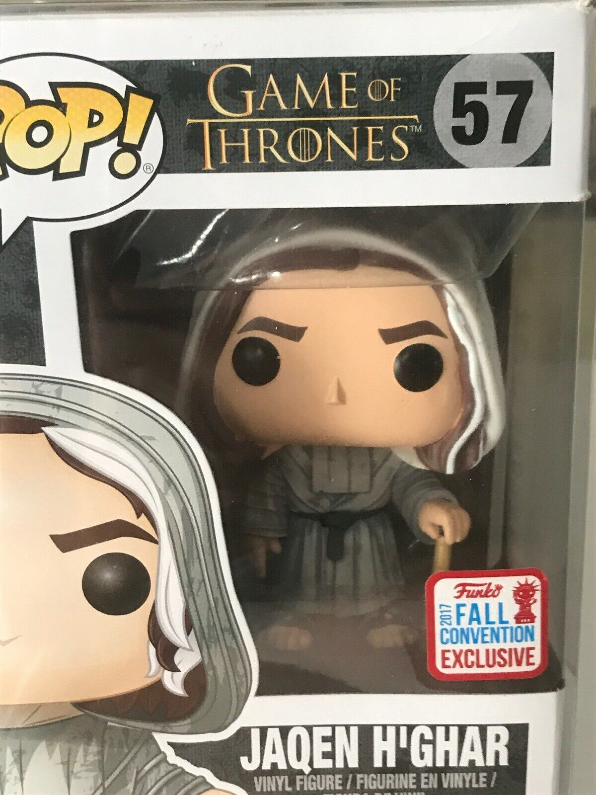 FUNKO POP  GAMES OF THRONES  JAQEN H'GHAR 57 WITH CASE PROTECTOR