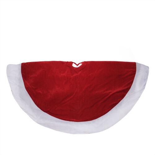 "Northlight 60/"" Traditional Red and White Velveteen Christmas Tree Skirt"