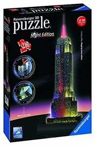Ravensburger-125661-Empire-State-Building-Night-Edition-Puzzle-3D-216-pieces