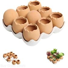 Ceramic Planters Terracotta Mini Flower Pots Creative Garden Decor Gift Set of 9