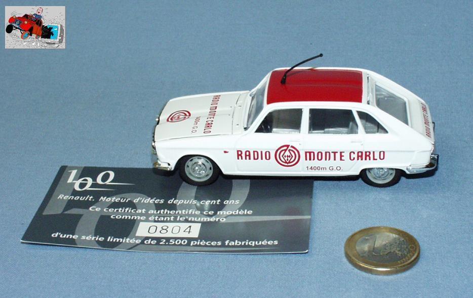 Norev 1 43  renault r16 anno 1965 radio monte carlo (ltd 804 2500)