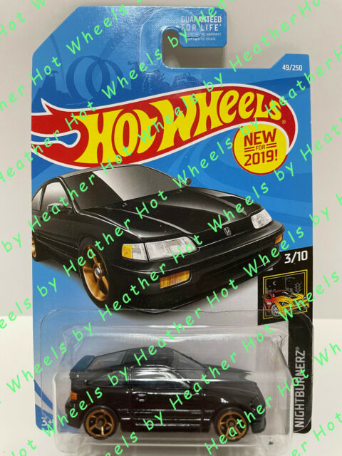 1//64 hotwheels 88 honda crx 2019 nightburnerz 3//10 card 49//250